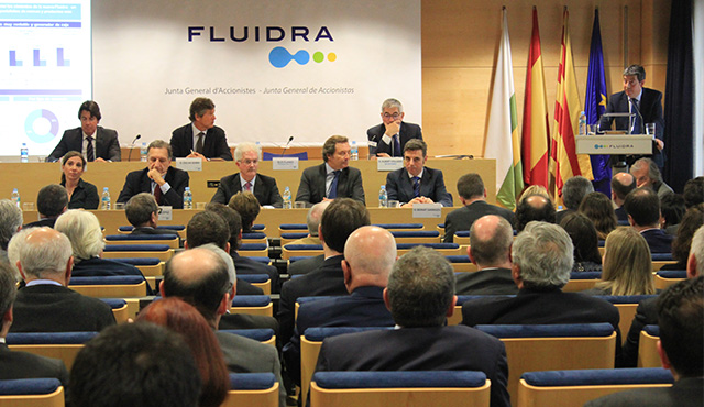 Fluidra's shareholders back the company's sound position in the light of the imminent close of the merger with Zodiac