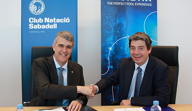 AstralPool and Club Natació Sabadell extend their sponsorship agreement for three more years